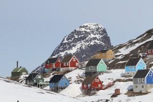 Kangaamiut, grønlandske huse