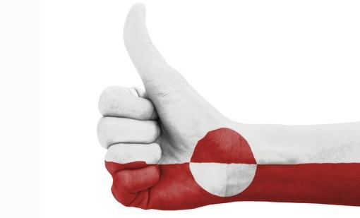 grønlands hånd tilrettet